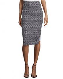 ZAC Zac Posen Pippa Pencil Printed Skirt at Neiman Marcus
