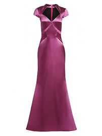 Zac Posen - Cap Sleeve Stretch Satin Gown at Saks Fifth Avenue