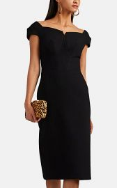 Zac Posen Bonded Crepe Fitted Sheath Dress at Barneys
