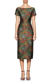 Zac Posen Floral Cloqué Fitted Sheath Dress at Barneys