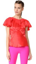 Zac Posen Short Sleeve Blouse at Shopbop