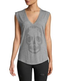 Zadig  amp  Voltaire Brooklyn Strass Cotton Skull Tee at Neiman Marcus