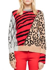 Zadig  amp  Voltaire Delly Animal-Print Sweater Women - Bloomingdale s at Bloomingdales