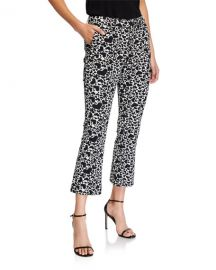 Zadig  amp  Voltaire Heart-Print Boot-Cut Cropped Pants at Neiman Marcus