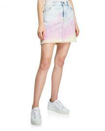 Zadig  amp  Voltaire Juicy Tie-Dye Denim Skirt at Neiman Marcus
