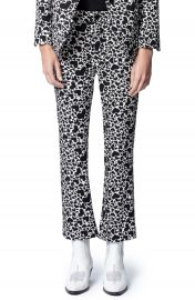 Zadig  amp  Voltaire Polis Jac Coeur Heart Print Trousers   Nordstrom at Nordstrom