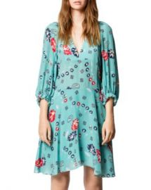 Zadig  amp  Voltaire Remi Daisy Printed Silk Dress   Women - Bloomingdale s at Bloomingdales