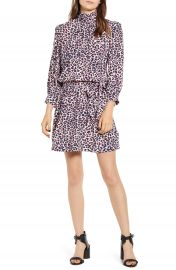 Zadig  amp  Voltaire Rivali Long Sleeve Minidress   Nordstrom at Nordstrom