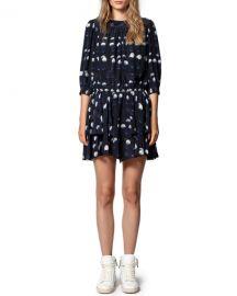 Zadig  amp  Voltaire Rooka Dot-Print Short Dress at Neiman Marcus
