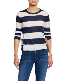 Zadig  amp  Voltaire Source Cashmere Striped Sweater at Neiman Marcus