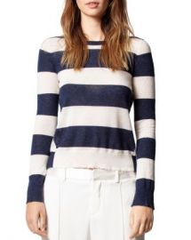 Zadig  amp  Voltaire Striped Cashmere Sweater  Women - Bloomingdale s at Bloomingdales