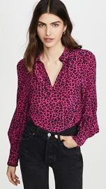 Zadig  amp  Voltaire Titus Print Leo Blouse at Shopbop