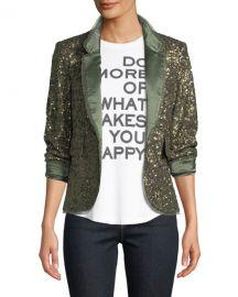 Zadig  amp  Voltaire Verys Sequined Open-Front Blazer at Neiman Marcus