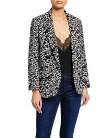 Zadig  amp  Voltaire Viking Heart-Print Single-Button Jacket at Neiman Marcus