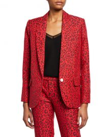 Zadig  amp  Voltaire Viking Leopard-Print Jacquard Jacket at Neiman Marcus