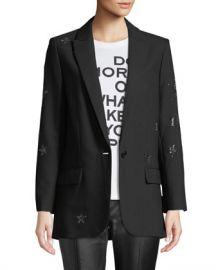 Zadig  amp  Voltaire Viva Star-Embellished Blazer at Neiman Marcus
