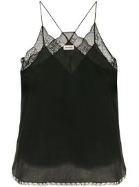 Zadig amp Voltaire lace-detail camisole top at Farfetch
