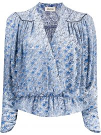 Zadig and Volaire Star Print Wrap Blouse at Farfetch