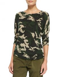 Zadig and Voltaire Cashmere Camo-Print Raglan Sweater at Neiman Marcus