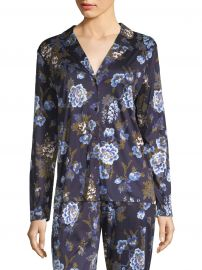 Zahra Floral Long-Sleeve Sleepwear Top at Saks Off 5th