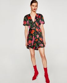 Zara Mini Dress With Print at Zara
