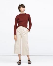 Zara Diagonal Knit Sweater at Zara