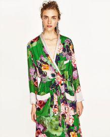 Zara Long Floral Kimono at Zara