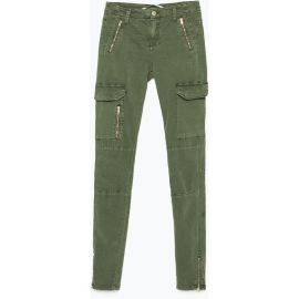 Zara zipped cargo trousers at Zara