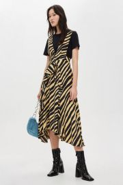 Zebra Print Pinafore Dress at Topshop