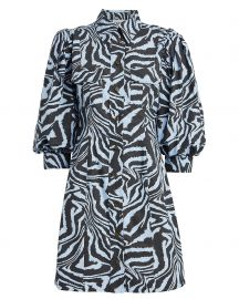 Zebra Poplin Shirt Dress at Intermix