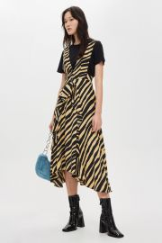 Zebra Print Pinafore Dress at Topshop