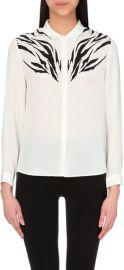 Zebra-Print Silk Boyfriend Shirt by The Kooples at Selfridges