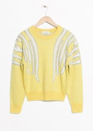 Zebra Shoulder sweater at & Other Stories