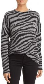 Zebra-Stripe Brushed Cashmere Sweater in gray by C by Bloomingdales at Bloomingdales