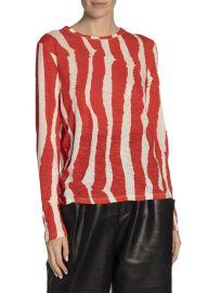 Zebra Stripe Long Sleeve T-Shirt by Proenza Schouler at Bergdorf Goodman