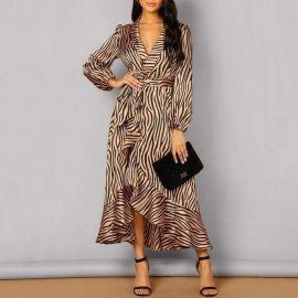 Zebra Wrap Dress at Sonja