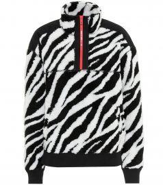 Zebra half-zip sweatshirt at Mytheresa