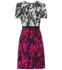 Zebra-print silk-blend minidress at Mytheresa