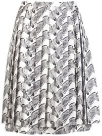 Zebra print skirt by Peter Som at Farfetch
