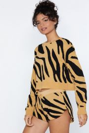 Zebra sweater at Nasty Gal