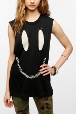 Zed Zip Muscle tee by UNIF at Urban Outfitters