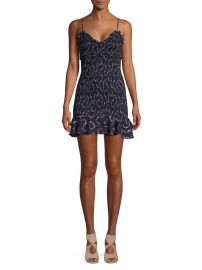 Zephra Smocked Mini Dress at Saks Off 5th