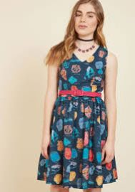 Zest of the Bunch A-Line Dress Geodes at ModCloth
