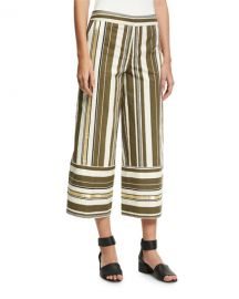 Zeus and Dione Striped Crop-Leg Pants at Bergdorf Goodman