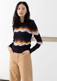 Zig Zag Merino Wool Sweater at & Other Stories