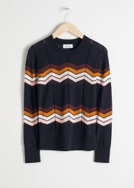 Zig Zag Merino Wool Sweater by & Other Stories at & Other Stories