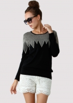 Zig Zag sweater like Carries at Chicwish