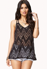 ZigZag Cutout Tank  at Forever 21