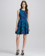 Zigzag print knit dress by French Connection at Neiman Marcus