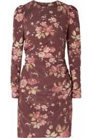 Zimmermann - Draped floral-print silk-blend crepe de chine mini dress at Net A Porter